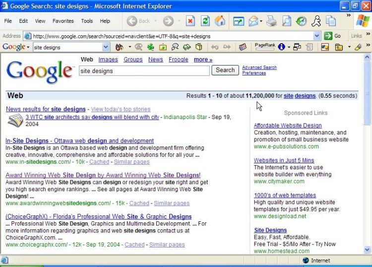 Award Winning Web Site Designs #1 USA rank in Google!