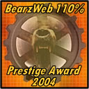 BearsWeb 110% Prestige Award presented to us in 2004