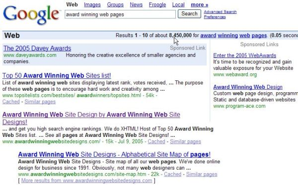 Our sites ranked #1, 2 + 3 in Google for this phrase!