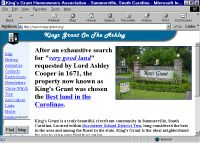 Home page for King's Grant subdivision in Summerville, SC
