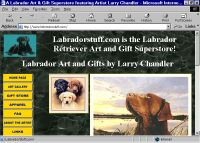 Home page of artist Larry Chandler's Labrador Retriever site