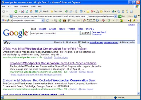 #1+2 rank on Woodpecker Conservation in Google!